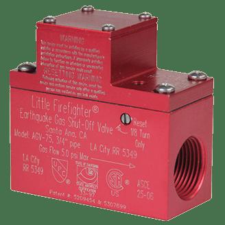 Little Firefighter Earthquake Gas Shut-Off Valve.