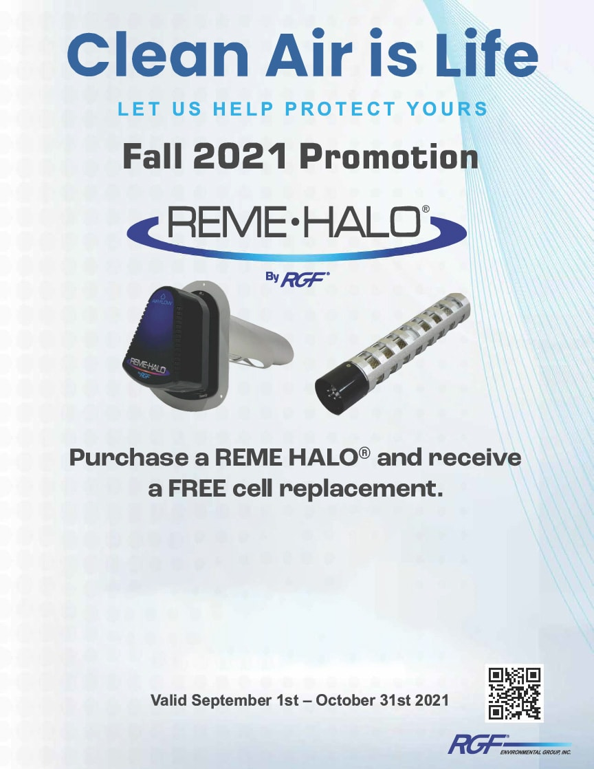 REME HALO Fall 2021 Promotion | Purchase a REME HALO® and receive a FREE cell replacement. | Valid September 1st - October 21, 2021